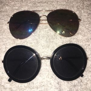 Two cool pairs of sunglasses